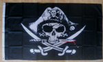 Pirate Crossed Sabres Large Flag - 5' x 3'.